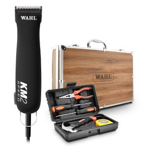 Wahl KM2 Dog / Pet Clipper with Wooden Case and Tool Kit