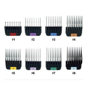 WAHL 1-8 SINGLE Metal Comb/Stainless Steel Attachment For KM2/5/10/SS Clippers