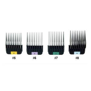 WAHL 5-8 #5 6 7 & 8 Stainless Steel Combs / Metal Guides For KM2 KM5 KM10 KMSS Clippers