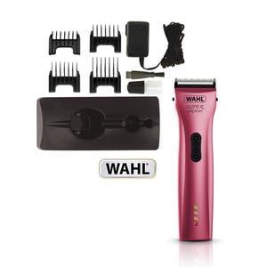 Wahl Super Groom Pink Animal Cordless Clipper - Pet / Horse / Dog Grooming Kit  - Choose Pack -