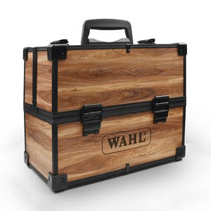 Wahl Barber Wooden Tool Box Storage Travel Case Hair Barber Styling Lockable