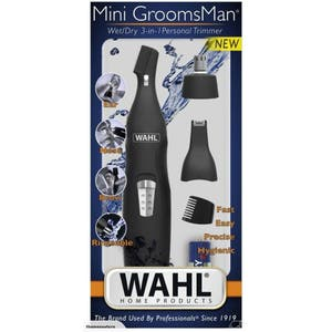 Wahl Mini Groomsman Wet / Dry 3 in 1 Personal Rinseable Trimmer: Ear Nose Brow